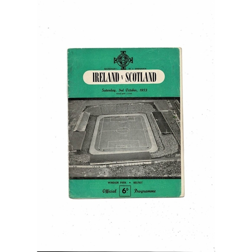 1953 Northern Ireland v Scotland Football Programme