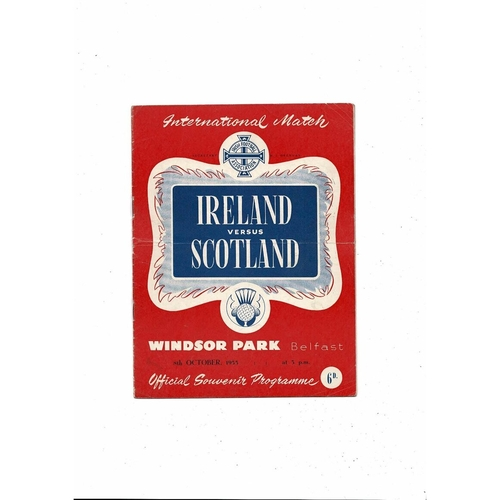 1955 Northern Ireland v Scotland Football Programme