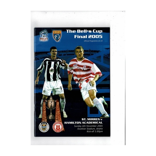 Scottish Challenge Cup Final Football Programme