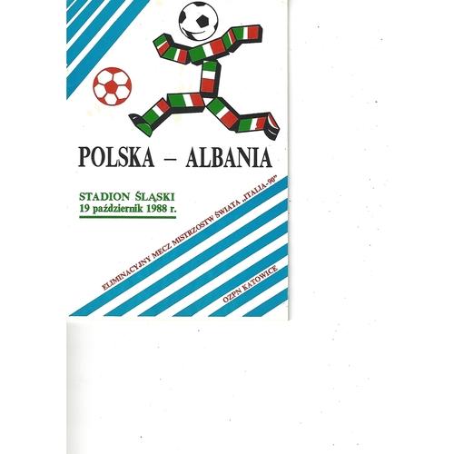 Poland v Albania Football Programme 1988