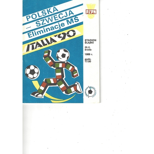 Poland v Switzerland Football Programme 1989