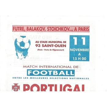 Portugal v Bulgaria Football Programme 1992