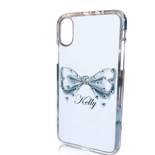Swarovski Crystal Bow Personalised Phone Case