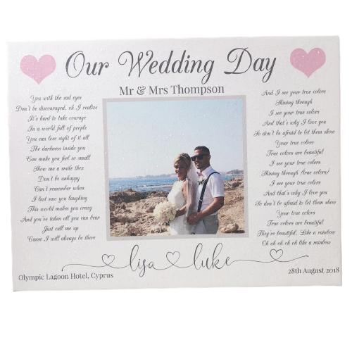 Wedding Song Photo Glitter Canvas (Design 1)