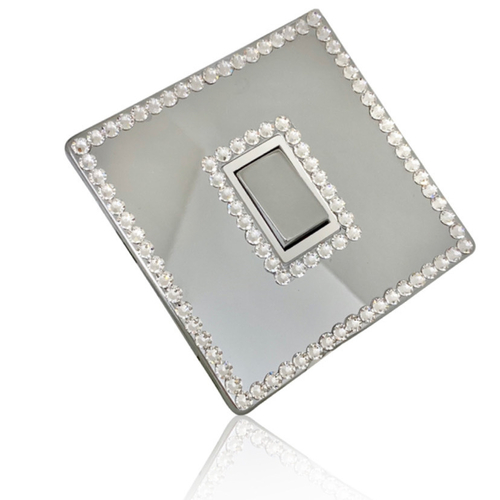 Crystal Light Switch (2 Rows) Made with Swarovski® Crystal ELEMENTS