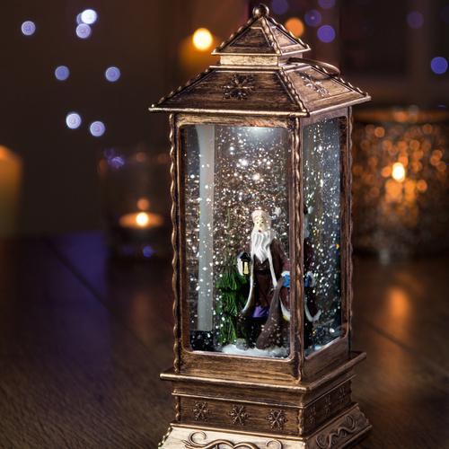 Lantern Shaped Santa Water Spinner