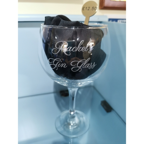 """Engraved """"Your name"""" Gin glass"""