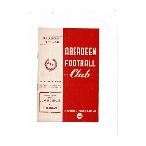 Aberdeen Football Programmes