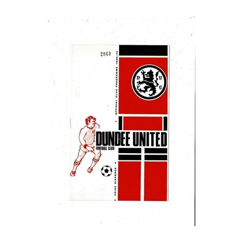 1969/70 Dundee United v Hibernian Football Programme