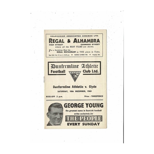 Dunfermline Athletic Football Programmes