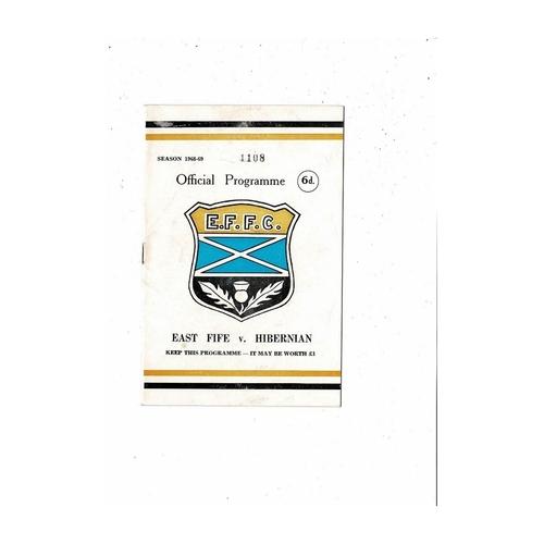 East Fife Football Programmes