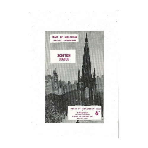 1966/67 Hearts v Hibernian Football Programme