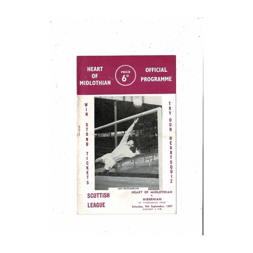 1967/68 Hearts v Hibernian Football Programme