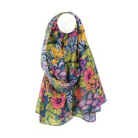 Recycled garden print scarf