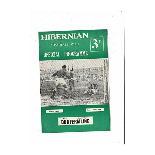1963/64 Hibernian v Dundee Football Programme