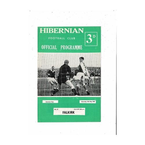 1964/65 Hibernian v Falkirk Summer Cup Football Programme
