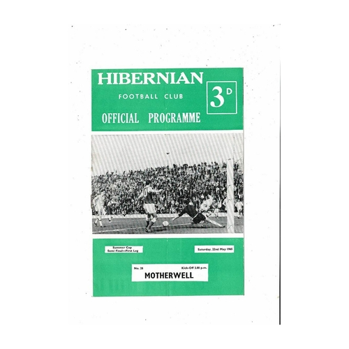 1964/65 Hibernian v Motherwell Summer Cup Semi Final Football Programme