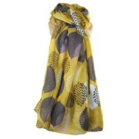 Leaves Scarf- Ochre