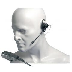 EA19/DX 'D' shaped earpiece with boom microphone & in-line PTT