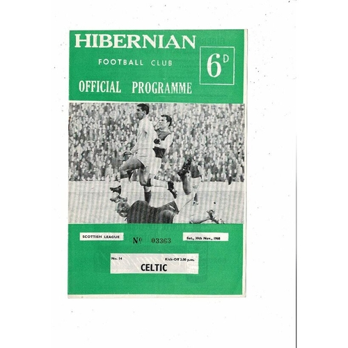 1968/69 Hibernian v Celtic Football Programme