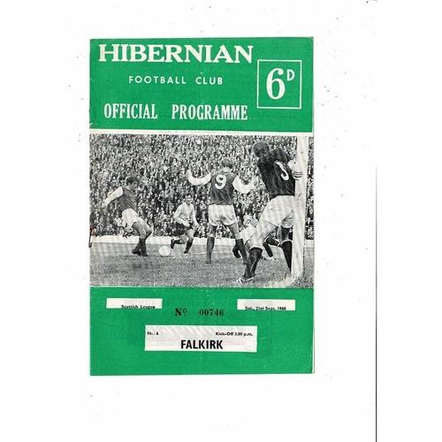 1968/69 Hibernian v Falkirk Football Programme