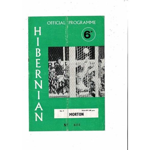 1969/70 Hibernian v Morton Football Programme