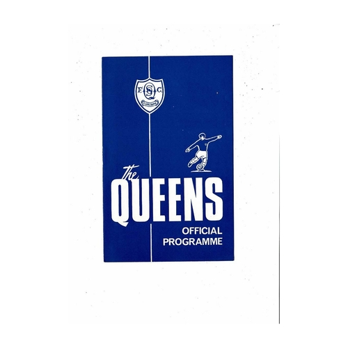 Queen of the South Football programmes