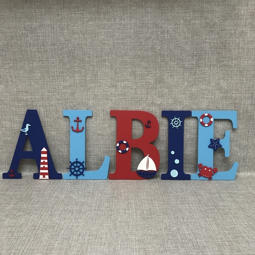 NAUTICAL  THEME letters
