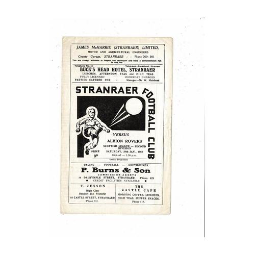 Stranraer Football Programmes