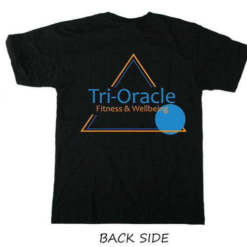 Tri-Oracle Print T-Shirt Black
