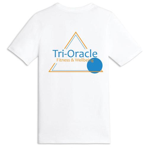 Tri-Oracle Print T-Shirt White