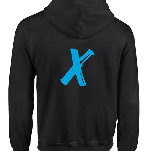 X Fight Hoodie (1) - Black