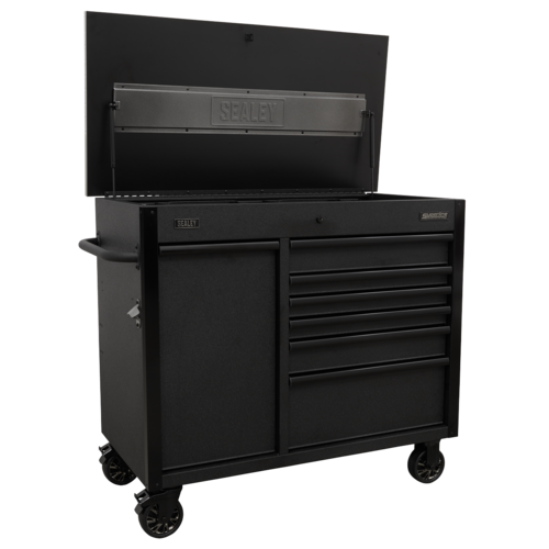 Mobile Tool Cabinet 1120mm with Power Tool Charging Drawer - Sealey - AP4206BE