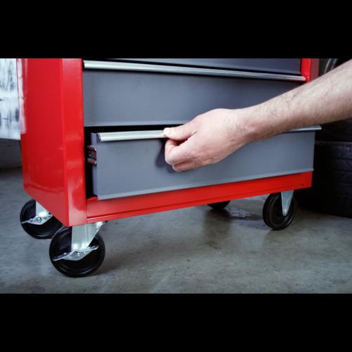 Rollcab 5 Drawer with Ball Bearing Slides - Red/Grey - Sealey - AP22505BB