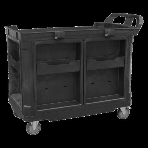 Mobile Workstation 4 Drawer & Cupboard 1210mm - Sealey - AP47PWS