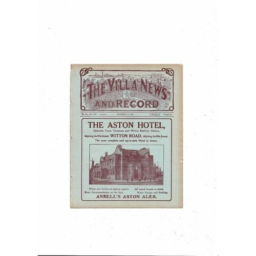1923/24 Aston Villa v Burnley Ex Bound Volume Football Programme