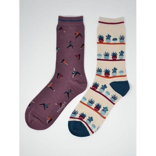 Thought Bamboo Socks Yoga Design