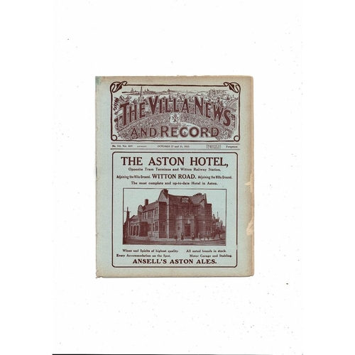 1923/24 Aston Villa v West Bromwich Albion Ex Bound Volume Football Programme