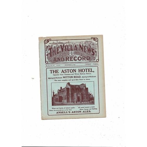 1923/24 Aston Villa v Sheffield United Ex Bound Volume Football Programme
