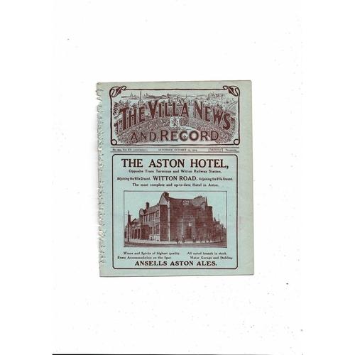 1924/25 Aston Villa v West Bromwich Albion Ex Bound Volume Football Programme