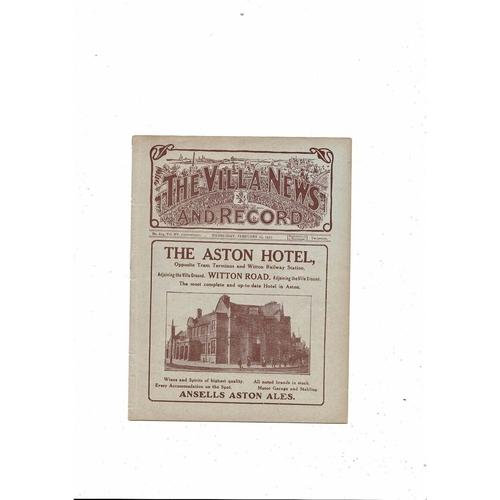 1924/25 Aston Villa v West Bromwich Albion FA Cup Rep Ex Bound Volume Programme