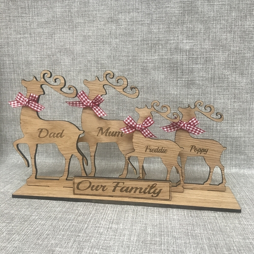 Traditional reindeer family