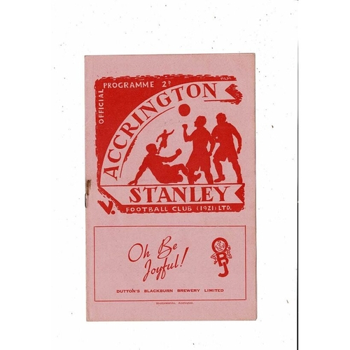 Accrington Stanley Home Football Programmes