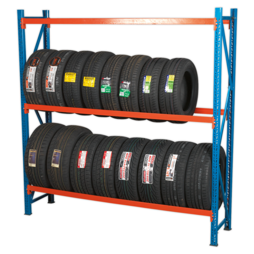 Two Level Tyre Rack 200kg Capacity Per Level - Sealey - STR600