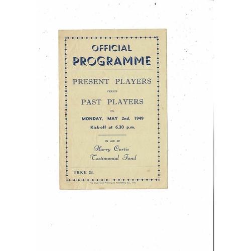 Brentford Present v Past X1 H Curtis Testimonial Fund Football Programme 1948/49