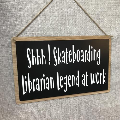 Large engraved sign
