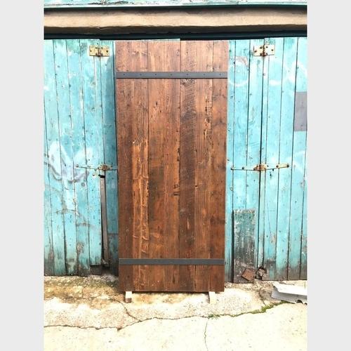 Reclaimed Timber Steel Strap Walnut