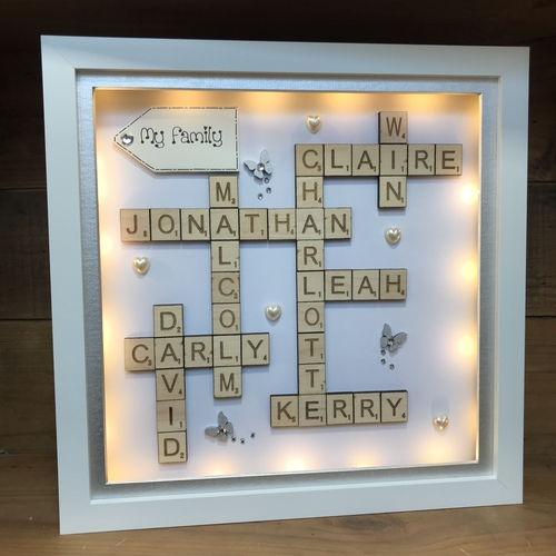 LED Large Scrabble Word Art