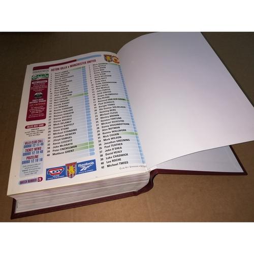 1999/00 Aston Villa Bound Volume Football Programmes