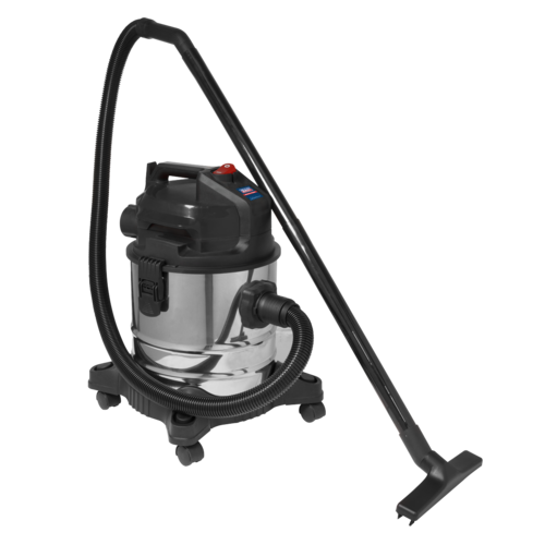 Vacuum Cleaner (Low Noise) Wet & Dry 20L 1000W/230V - Sealey - PC20LN